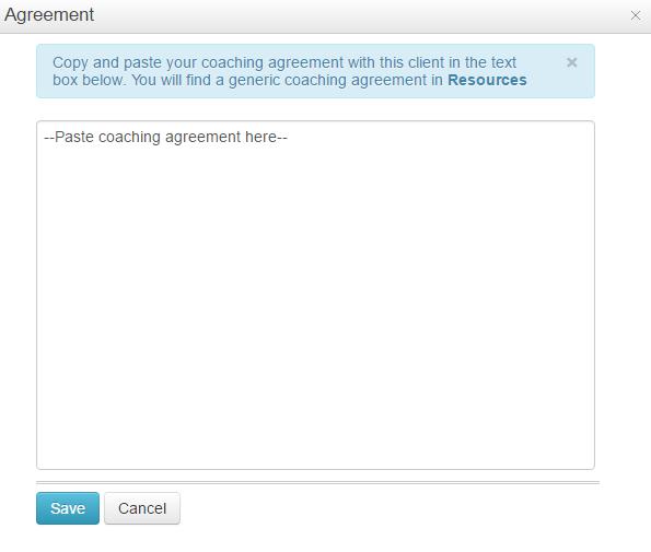 Agreement window