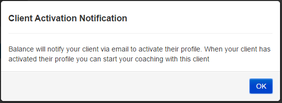 Client activation notification