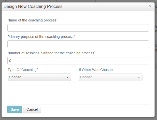 Design coaching process window